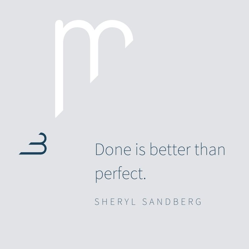 Marjon Bohré - Done is better than perfect
